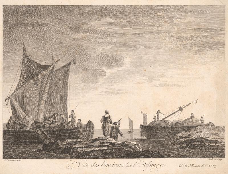 Pierre Charles Canot, Jean Baptiste Pillement - Pohľad na okolie Flessinque