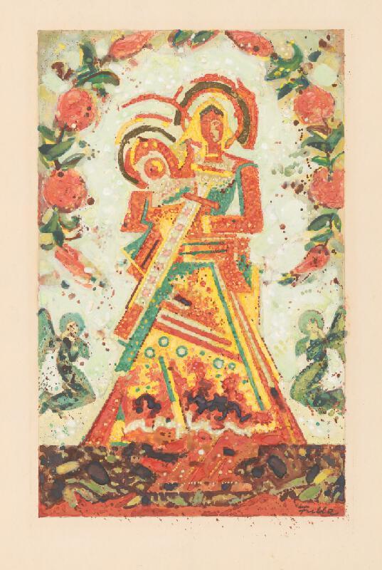 Ľudovít Fulla – Madona, 1947, Slovenská národná galéria