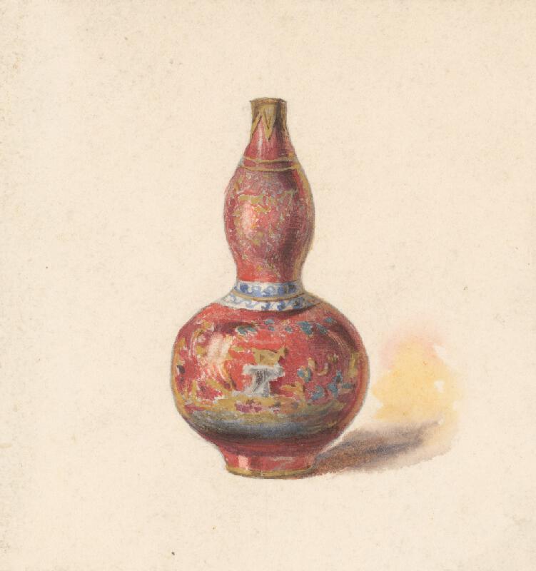 Friedrich Carl von Scheidlin - Váza s červeným podkladom