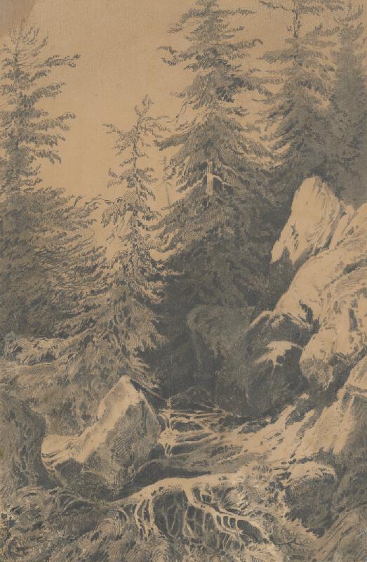 Friedrich Carl von Scheidlin - Horský motív