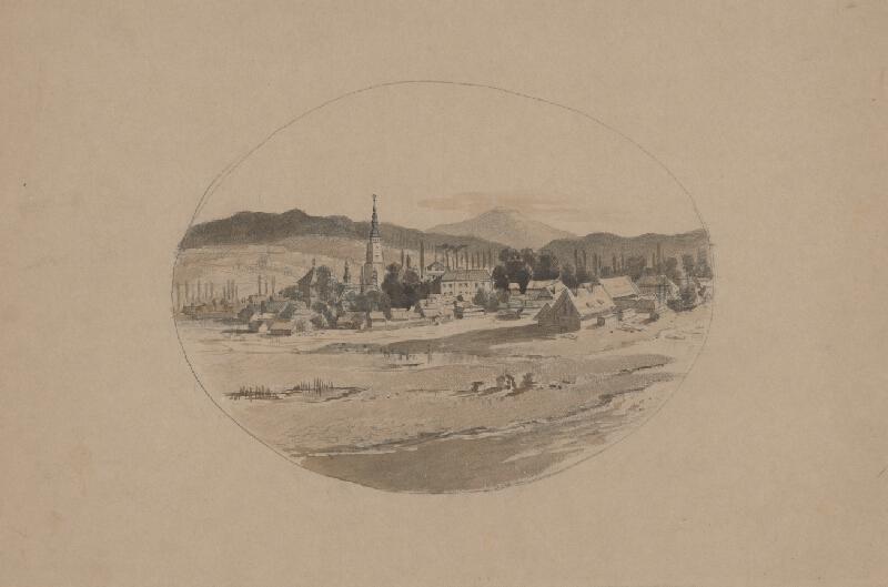 Friedrich Carl von Scheidlin - Pohľad na horskú dedinku