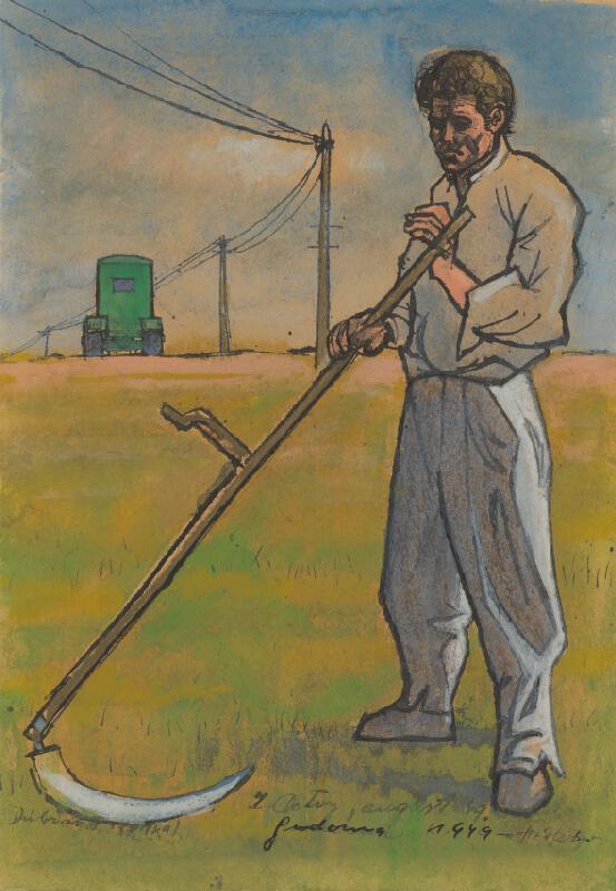 Ladislav Guderna - Kosec. Štúdia k obrazu Kosec a traktor