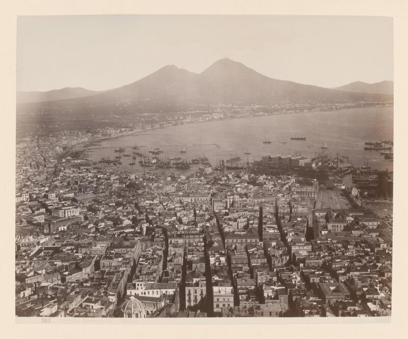Giorgio Sommer - Neapol. Panoráma mesta zo St. Martino