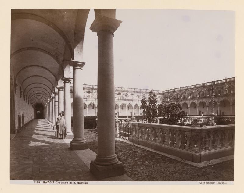 Giorgio Sommer - Neapol. Kláštor di San Martino (Certosa di San Martino). Rajská záhrada
