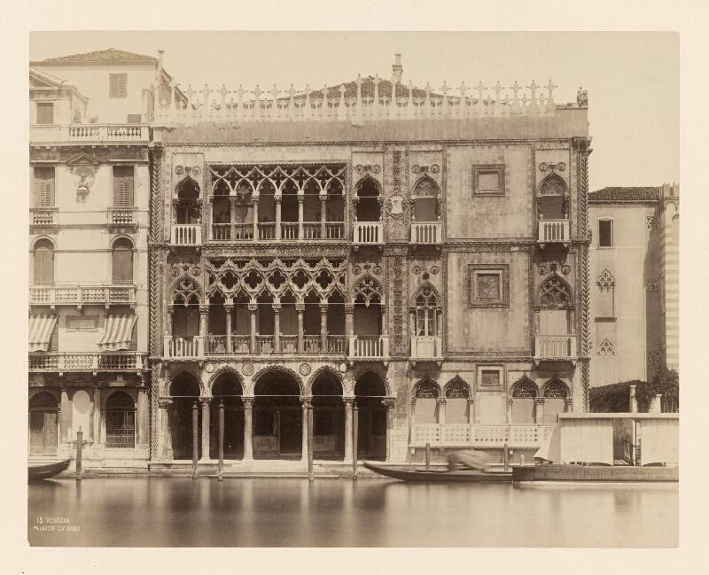 Carlo Naya - Benátky. Zlatý palác (Palazzo Ca' d'Oro)