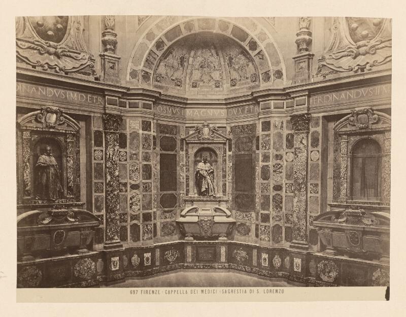 Neznámy autor - Florencia. Kaplnka Mediciovcov. Interiér Kaplnky princov (Cappelle Medice, Cappella dei Principi)