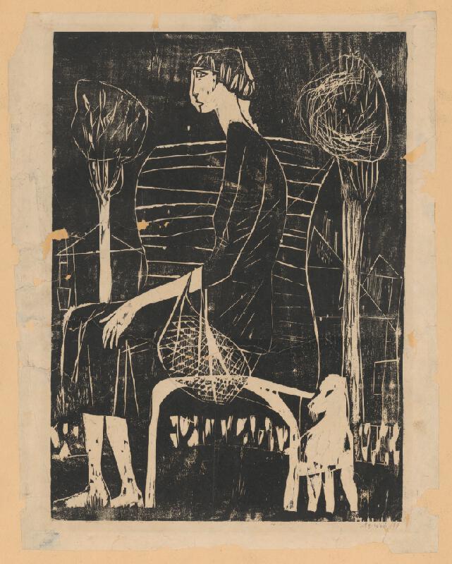 Alojz Pepich - Žena so psom