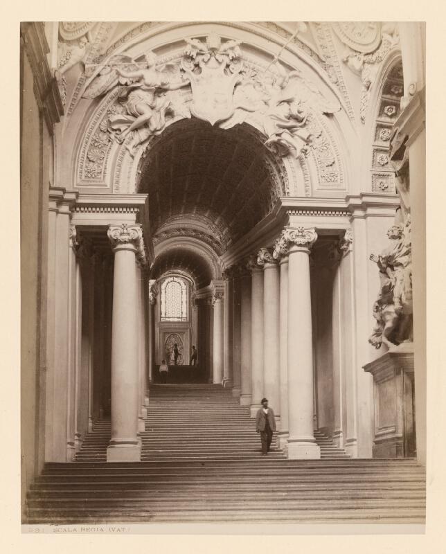 Neznámy autor - Rím. Vatikán. Kráľovské schodisko (Scala Regia)
