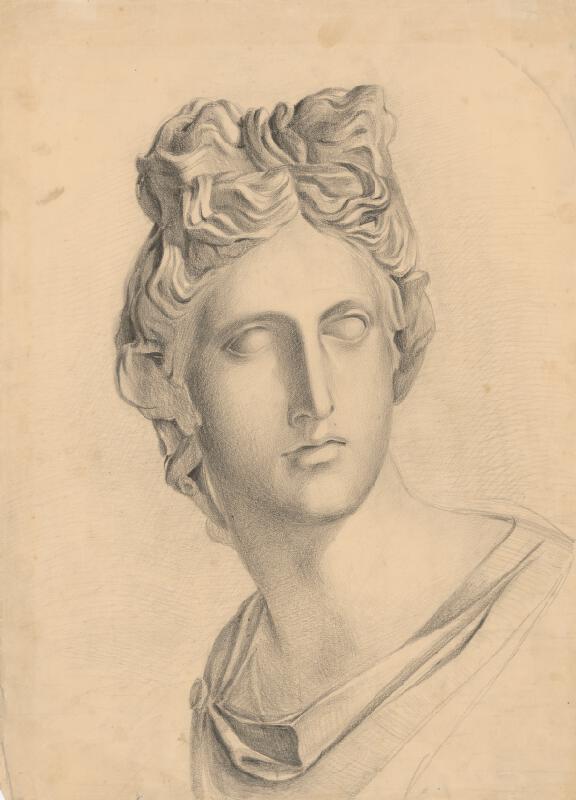 Ladislav Mednyánszky - Štúdia antickej ženskej hlavy podľa sádrového modelu