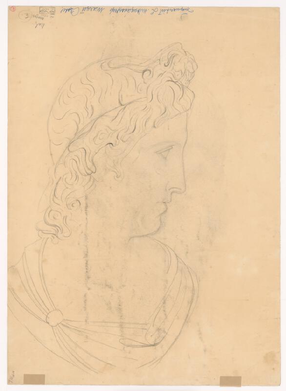 Ladislav Mednyánszky – Štúdia antickej ženskej hlavy z profilu