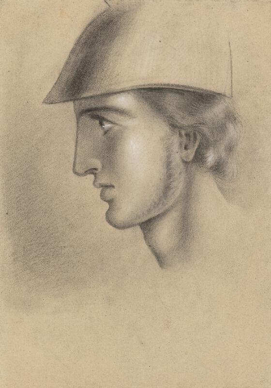 Ladislav Mednyánszky - Hlava mladého muža v prilbe