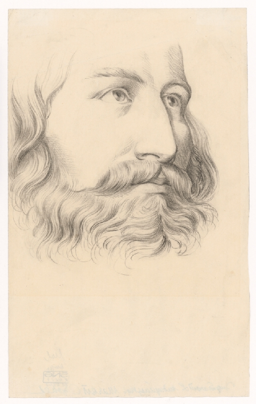 Ladislav Mednyánszky - Štúdia mužskej hlavy s fúzami a bradou