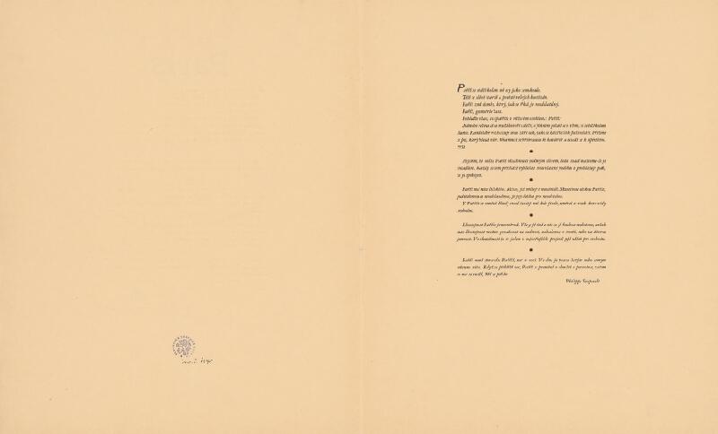 Josef Šíma - Paris - úvod