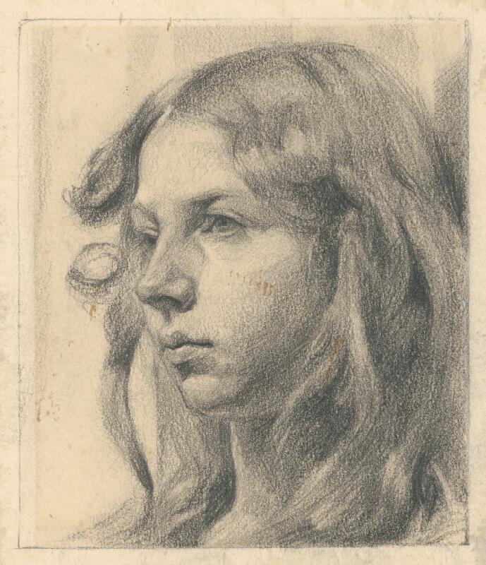 Jaroslav Augusta - Štúdia hlavy dievčaťa