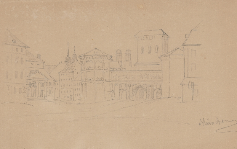 Friedrich Carl von Scheidlin - Ulica v Mníchove
