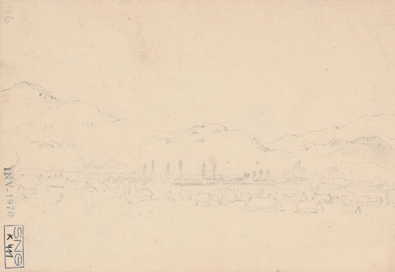 Friedrich Carl von Scheidlin - Horská krajina s domkami
