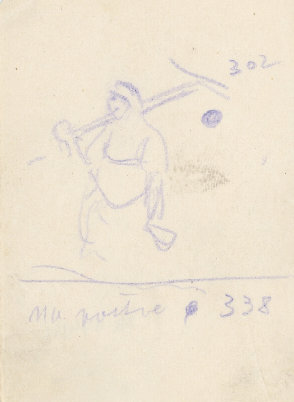 Gustáv Mallý - Náčrt k obrazu Na pastve