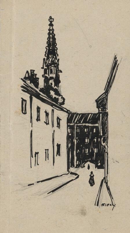 Janko Alexy – Ulička pri kláštore klarisiek