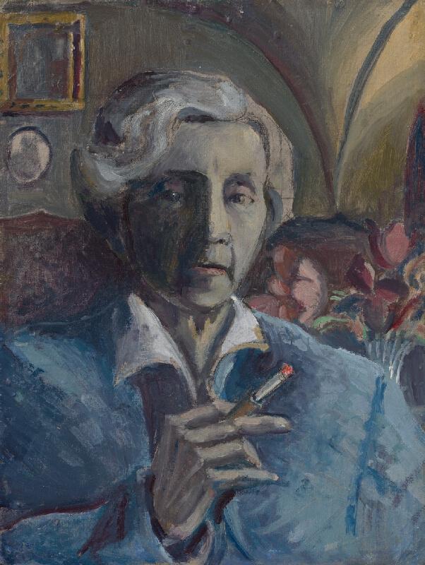 Margita Czóbelová - Vlastná podobizeň s cigaretou
