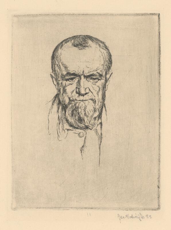 Jaroslav Vodrážka - Hlava muža s briadkou