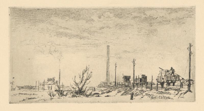 Jaroslav Vodrážka - Krajina s továrňou