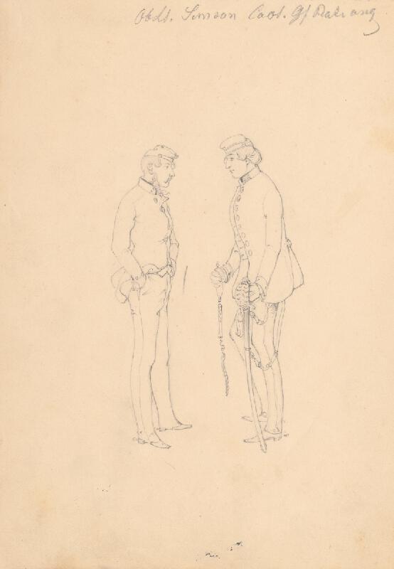Friedrich Carl von Scheidlin - Štúdia dvoch vojakov