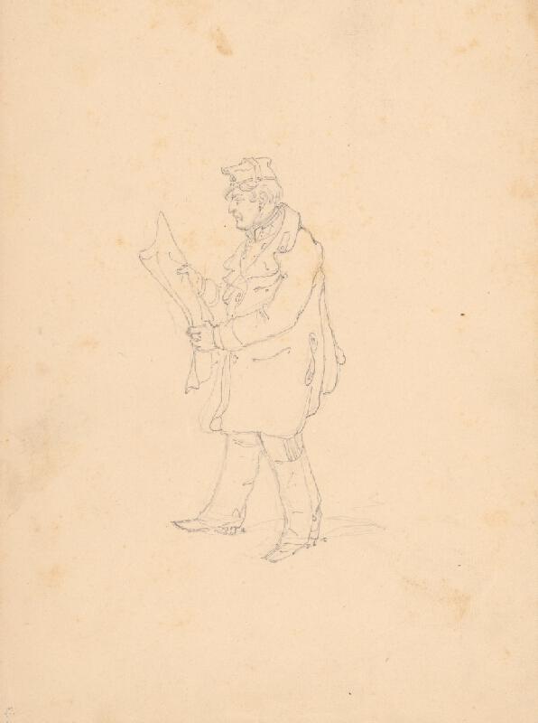Friedrich Carl von Scheidlin - Vojak s novinami