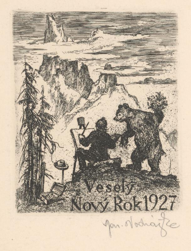 Jaroslav Vodrážka - Maliar a medveď