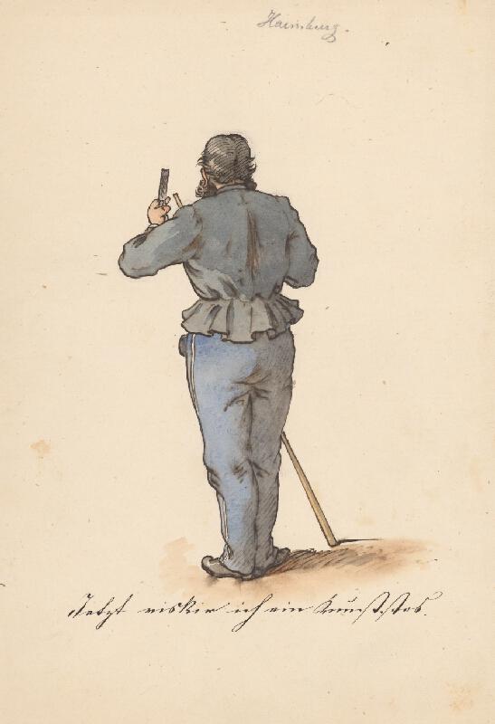 Friedrich Carl von Scheidlin - Stojaci muž od zadu