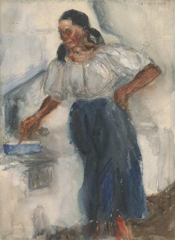 Miloš Jiránek - Žena pri peci