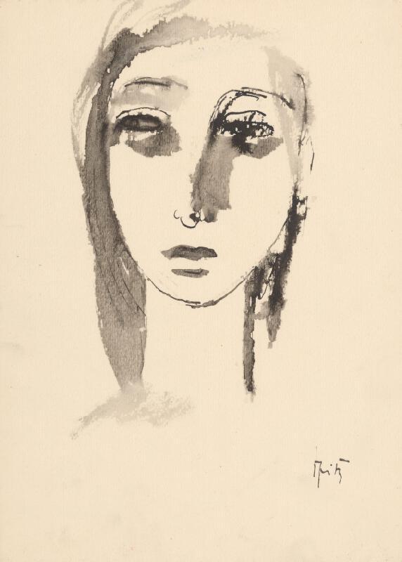 Ernest Špitz - Hlava dievčaťa XI.