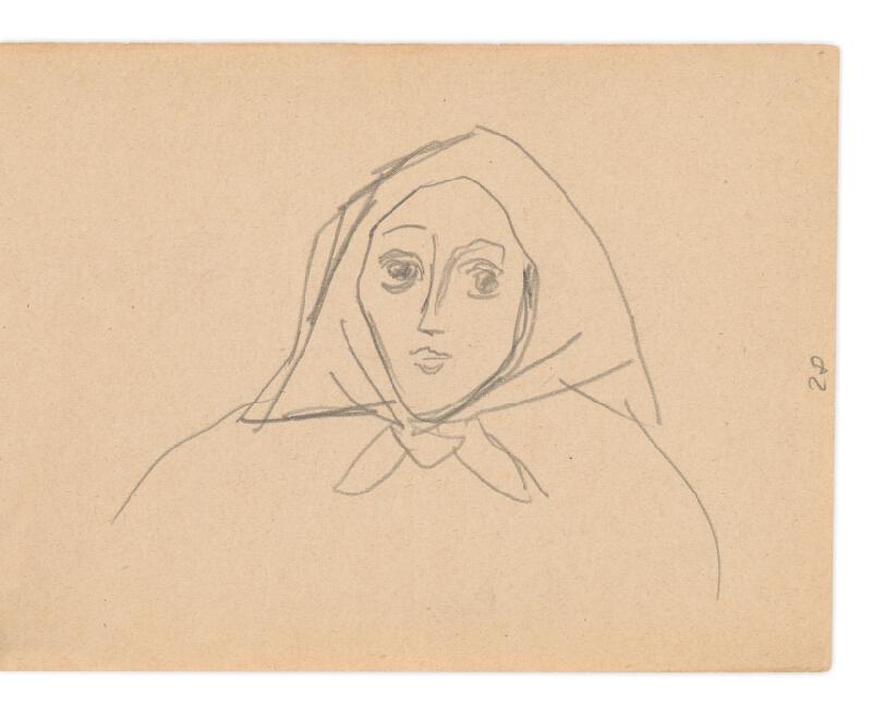 Eugen Nevan - Skicár II - 49 listov - Žena v šatke