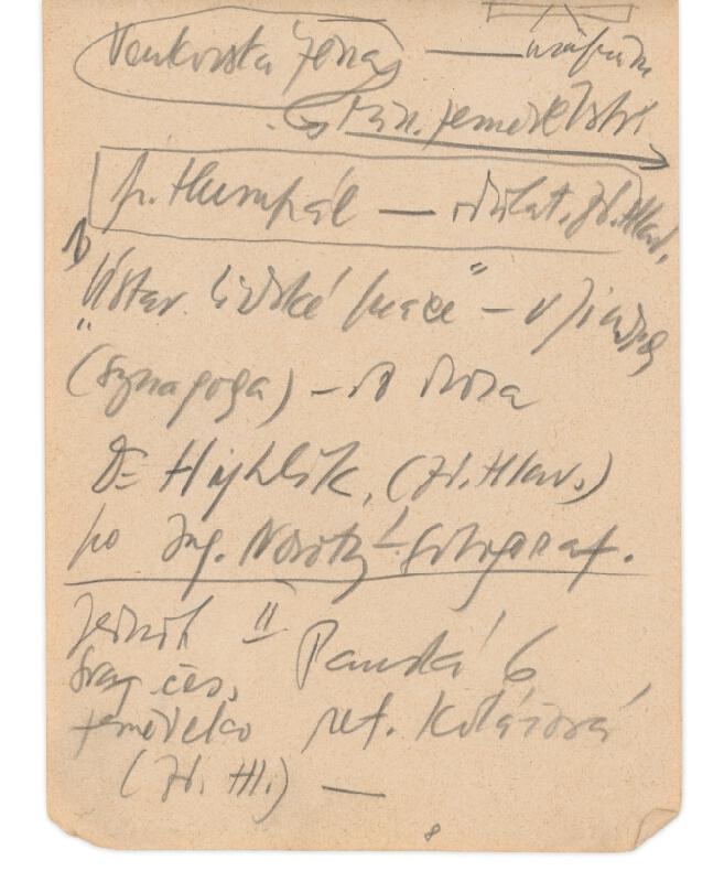 Eugen Nevan - Skicár II - 49 listov - Zápisky