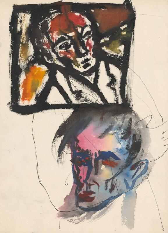 Ernest Špitz - Two Heads of a Man