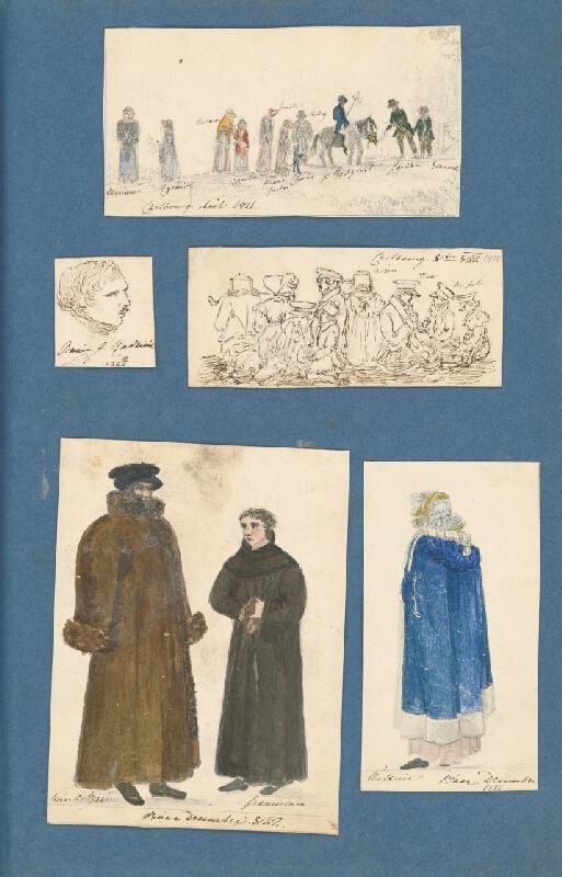 Stredoeurópsky maliar z 19. storočia - Album kresieb z rokov 1817 - 1870