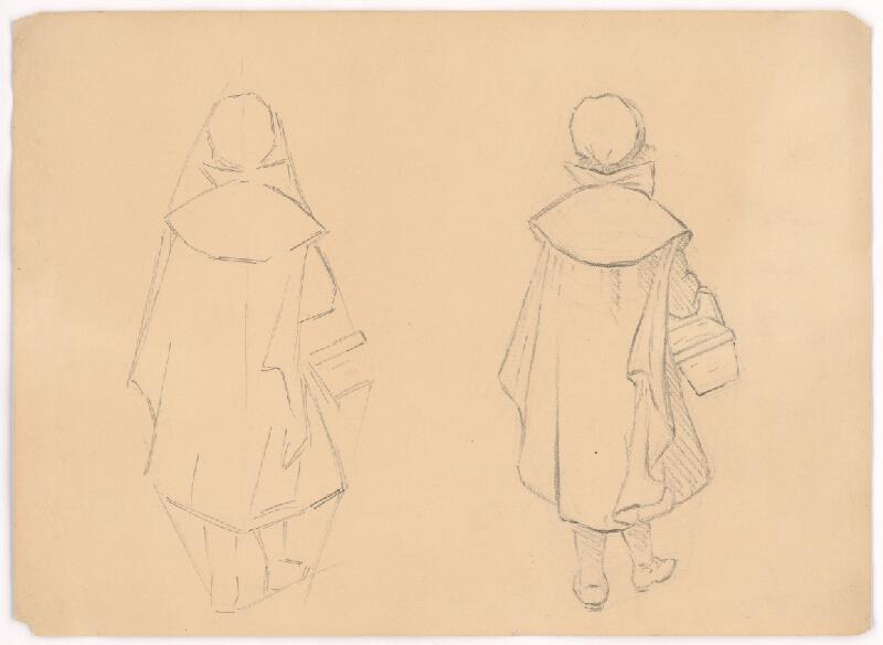 Jan Novopacký - Štúdie dievčatka v plášti