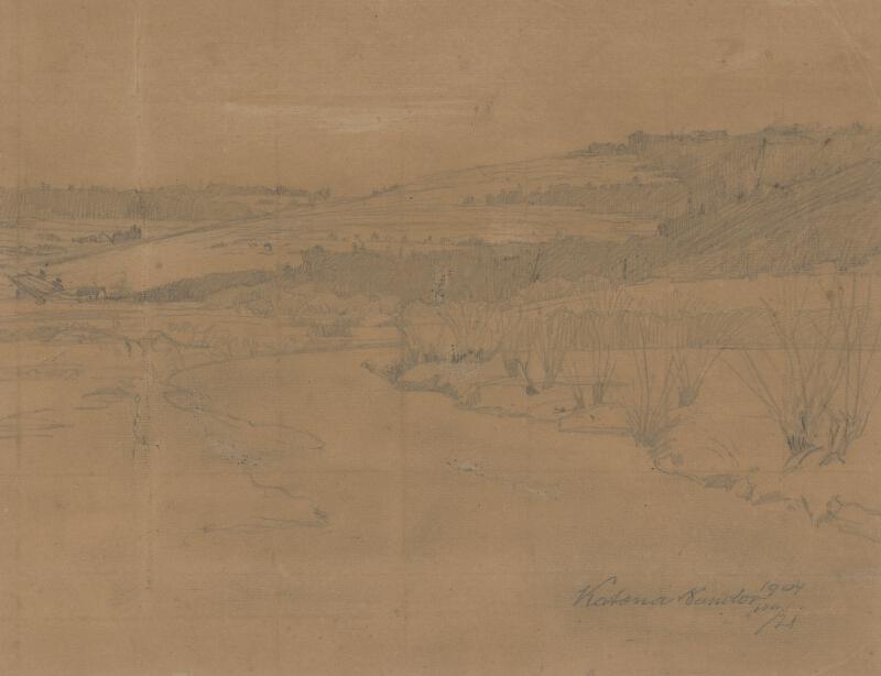 Ferdinand Katona - Štúdia krajiny pri Zakopanom