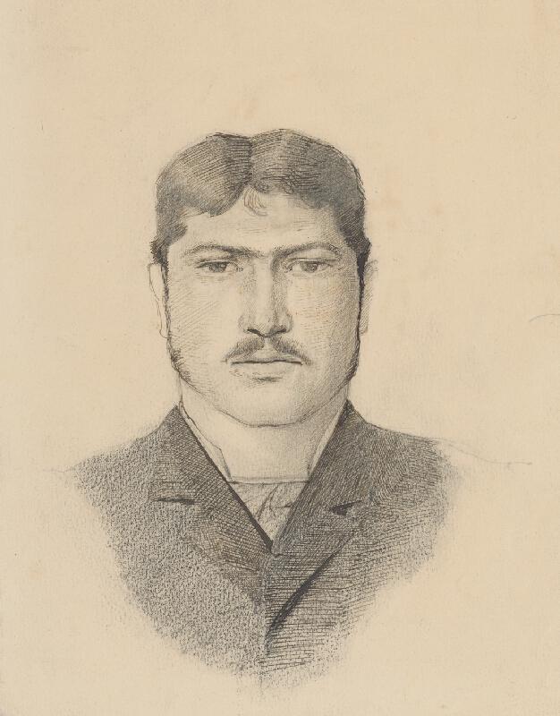 Ladislav Mednyánszky - Hlava mládenca
