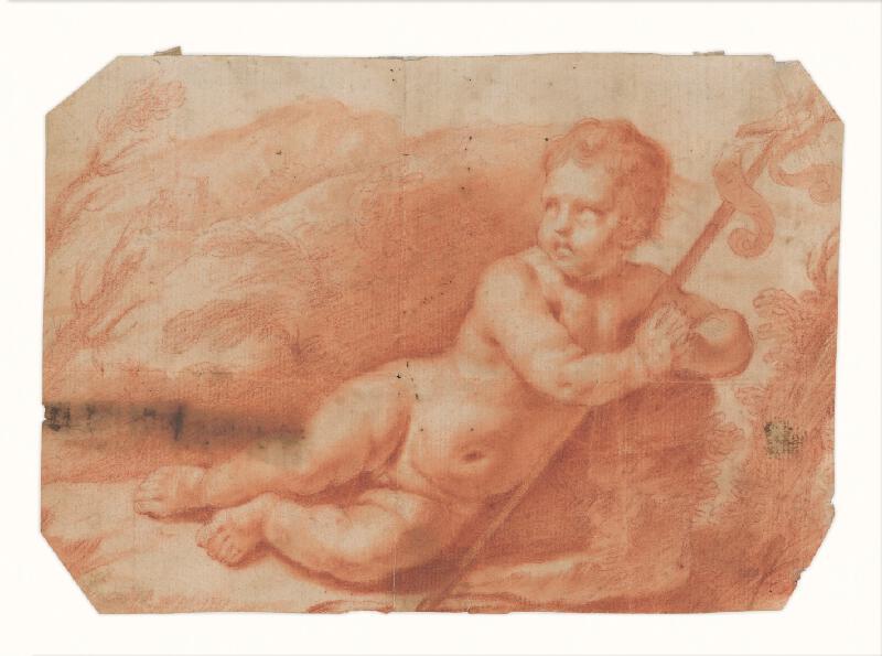 Taliansky majster zo 17. storočia - Dieťa sv. Ján Krstiteľ