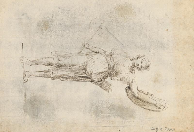 Francesco di Giorgio Martini - Štúdia dvoch sediacich postáv