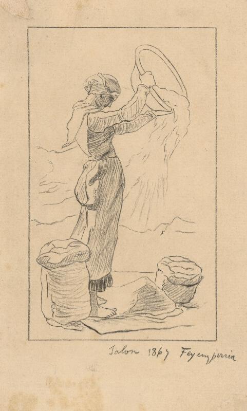Francúzsky maliar z 19. storočia - Žena so šatkou