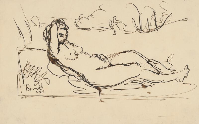 Jozef Šturdík - Náčrt podľa Tizianovej Venuše