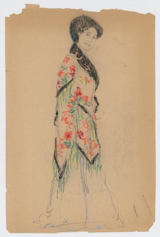 Ivan Žabota - Žena v kvetovanom šate