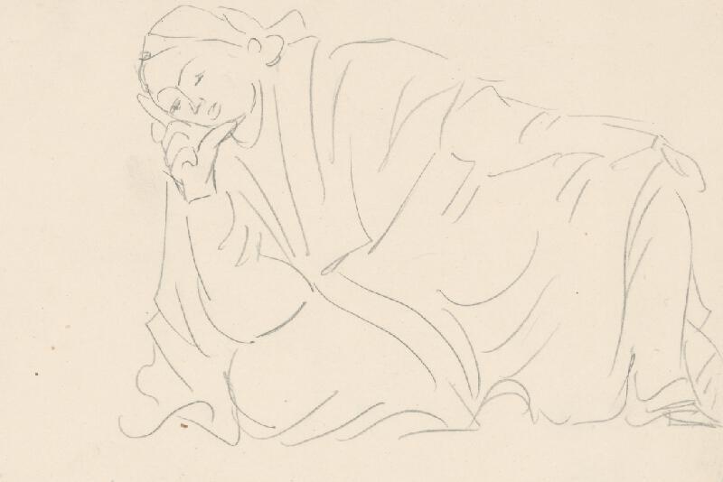 Eugen Nevan - Ležiaca s podopretou hlavou