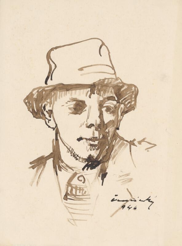 Ladislav Čemický - Hlava muža v klobúku