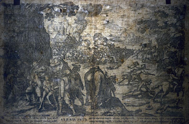 Stredoeurópsky autor zo 17. storočia, Antonio Tempesta - Vojenská scéna