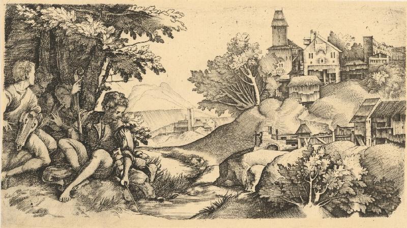 Giulio Campagnola, Domenico Campagnola - Pastieri v krajine