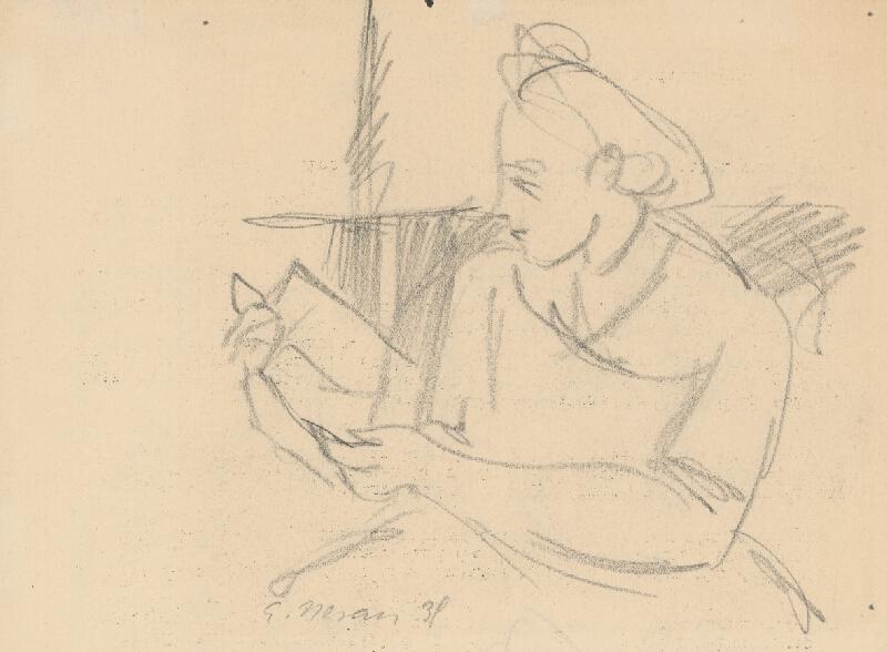 Eugen Nevan - Čítajúca žena
