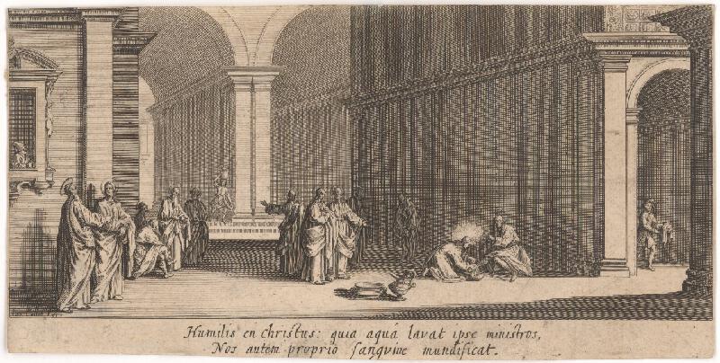 Jacques Callot - Kristus umýva nohy apoštolom, sv. Petrovi