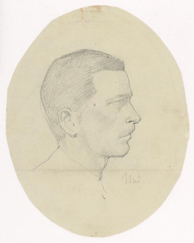 Ladislav Mednyánszky – Štúdia hlavy muža z profilu